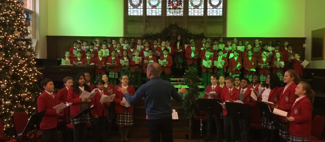 Wolverhampton Grammar School carol singer